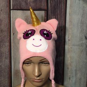 Unicorn Hat OSFA Soft Warm Cute